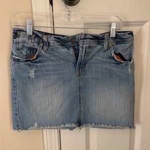 Polo denim jean skirt
